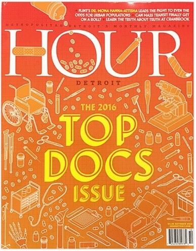 """Dr. Walton named """"Top Doc"""" by Hour Detroit magazine."""